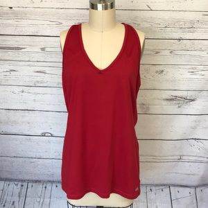 Alo Yoga Red Cool Fit Athletic Tank Size XL